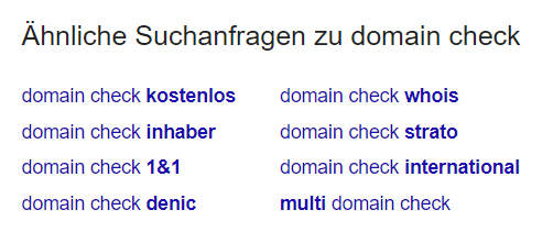 Beispielhafte Ergebnisliste einer Keyword Recherche bei Google